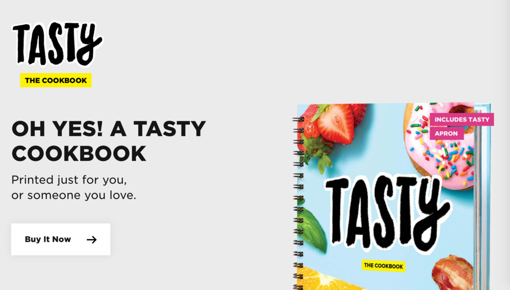 The Tasty Cookbook website, powered by Shopify.